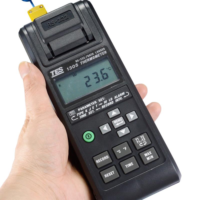 TES-1305自带打印式温度计
