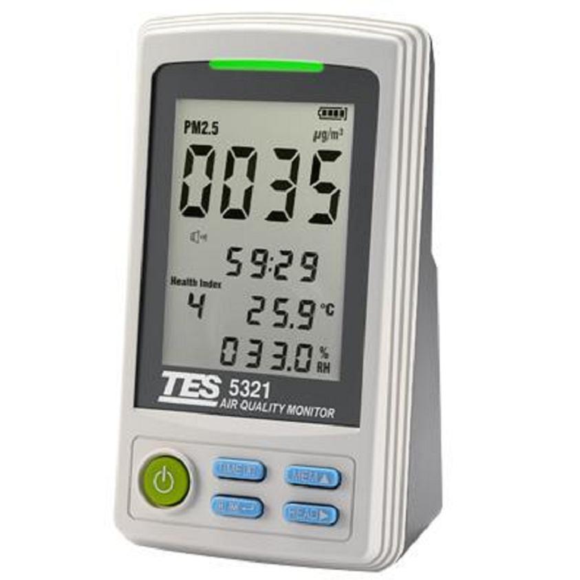 泰仕TES-5321PM2.5空气质量监测计空气环境检测仪数据记录功能
