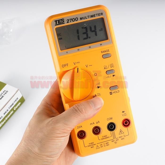 台湾泰仕TES-2700液晶数字万用表