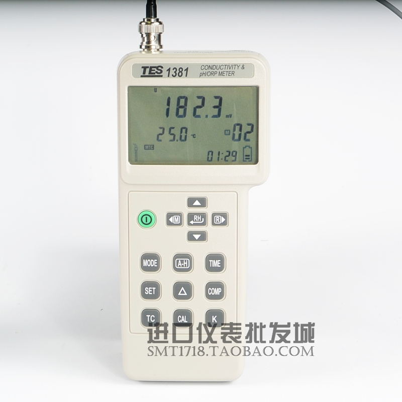 台湾泰仕TES-1381k电导计/酸碱度计/氧化还原电位计